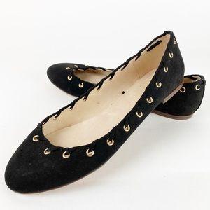 GAP Shoes - Black Grommet Faux Suede GAP Flats 9 Y232